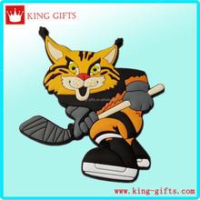 3D tiger hockey ball pvc fridge magnet