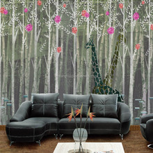 2015 new design and fashion branches mural 3d wallpaper for home decoration