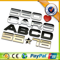 3D Car Logo With Names,Custom 3D Car Emblem,ABS Chrome Car LOGO DIY