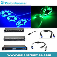 DJ booth lighting decoration DC12V 5050 led flexible strip lights,DMX512 artnet Madrix pixel waterproof strip lights