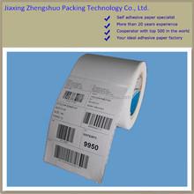 Custom sizes & printing thermal paper blank white label