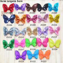 6cm sequin bow -Sequin BowKnot Handmade DIY for baby and girls Hair Accessory
