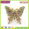 Fashion design rhinestone crystal brooch/crystal rhinestones butterfly brooch pin #5202