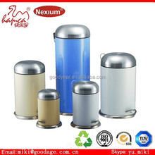anti-rust bowl shape waste can garbage can for home use