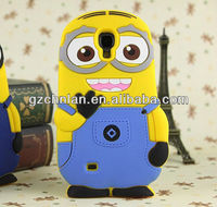 Hot sellng 3d cartoon dispicable me animal design for samsung galaxy s4 case