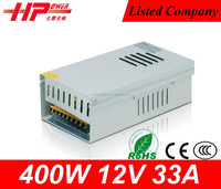 Guangzhou factory high quality wall mounted voltage constant current high voltage waterproof 33a 12v 400w led power supply