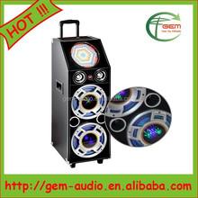 Hot portable bluetooth speaker outdoor wireless speaker with spotlight Gem-704