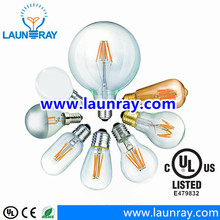 A19/G45/C35/G80/G95/G125/ST58/ST64/T25/T30/T45 LED Filament Bulb 360degree Clear E12/E14/B22/E26/E27 Led Lamp