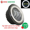 New super bright 30w motorcycle spare parts 4.5 inch h.arley led headlight with halo rings