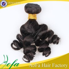 Non processed 100% human 6A quality cheap wholesale ocean wave hair weave
