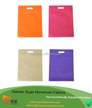 Replace Plastic Purple Non Woven D-Cut Bag Gift Shopping Bag promotional bag - china supplier