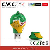 Wholesale mascot world cup promotional gift usb flash drive bulk 4gb usb flash drives