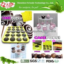 grado alimenticio 20 hoyos antiadherente palos pop pastel de silicona