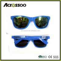 Custom wholesale mirror sunglasses/ Yellow mirrored promotional mirror sun glasses