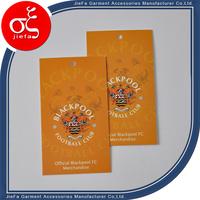 2015 High quality custom design paper price hang tag for handbags/t-shirts/jeans/denim tag