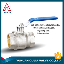 brass ball valve china polishing manual power control valve plating PPr pipe fitting brass lockable in TMOK