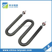 DR type finned heater exchange tube Flange Finned Tubular Heater