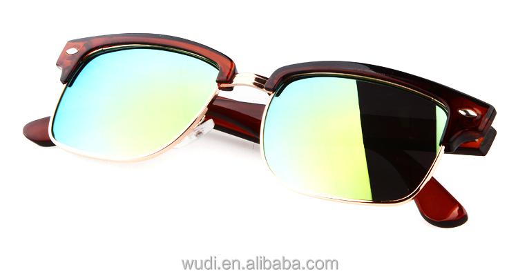2015 colorful lens sunglasses progressive shade anti uv