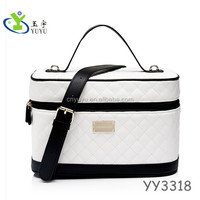 Makeup case sewing semi PU high-end Cosmetic Case