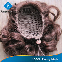 Soft Smooth Top Grade Remy claw clip ponytail human hair extension