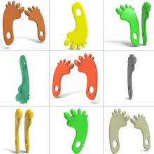 [hot!]100% natural rubber foot teething,foot teething toys,foot silicone pendant