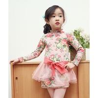 2015 spring new korean style brand phelfish girls dresses kids clothes children clothing baby girl dress 13235