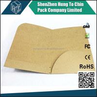 Kraft cardboard manila fc file folder with flap