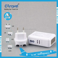 2015 best selling multi port usb wall charger 5V 2.1A 3.1A 5.4A