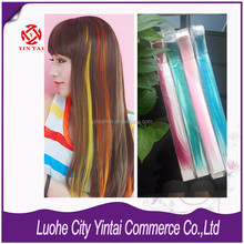 2015 New production one piece synthetic hair extension clip in hair extensions