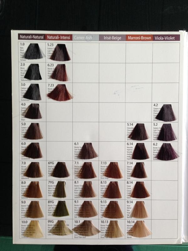 для волос цветовая схема