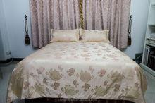 Cheap price!! 4pcs Jacquard home textile Rayon silk and cotton mixed bedding set