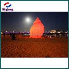 NB-SH2003 Ningbang white inflatable LED shell decoration/inflatable light shell for performance