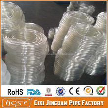 Export UK USA Non-Toxic FDA Food Grade Clear non toxic PVC tubing, Plastic Drainage Hose,PVC Soft Clear Pipe