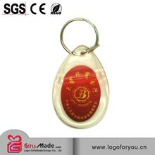 clock oem logo flashing solar Keychain wholesales