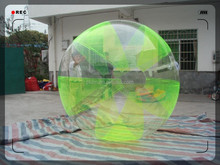 Popular games Green color inflatable water ball sale