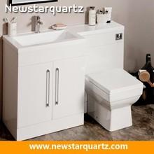 Artificial quartz banjo bathroom sink top
