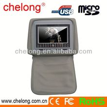 New arrived 7inch new panel headrest car dvd with zipper cover