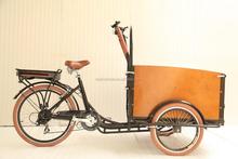 2015 Brushless Motor 3 wheel motorized bike electric cargo trike/three electric cargo tricycle price