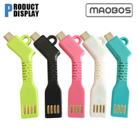 Creative personality power charger adapter for Apple iphone 5 key buckle short-term