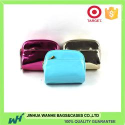 New design cute pu cosmetic bag metallic pu leather cosmetic bag jewellery pu bag with high quality