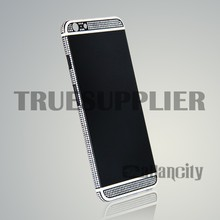 white line diamond inlaid matte black housing for iphone6 back housing replacement