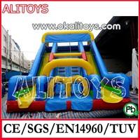 red inflatable slide,big clown slide,huge inflatable slide