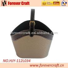 Home Organization & Decorative Basket Leather Gift Storage Tote