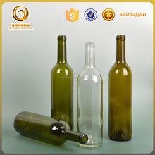 Hot sale bordeaux style empty 750ml red wine glass bottles