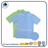 Plain 100 % polyester polo t shirt OEM