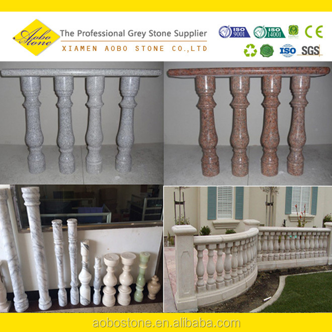 Préfabriqués en marbre granit rouge rampe d\'escalier extérieur ...