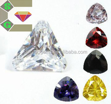 hot sale high quality colorful trillion cut micro cz cubic zirconia pave beads for jewelry setting