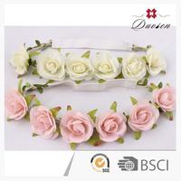 new fashion girl rose flower headband,silk headband flower