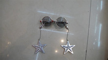 fancy dress stars hanging sliver Xmas event party glasses