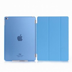 PU Leather Magnetic Front Smart Cover Cases+Crystal Hard Back Shell For iPad Air 2 Couple Case